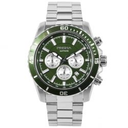 Prisma 1881 navigator chronograph watch groen horloge P.1881 heren chronograaf Green watch navigator
