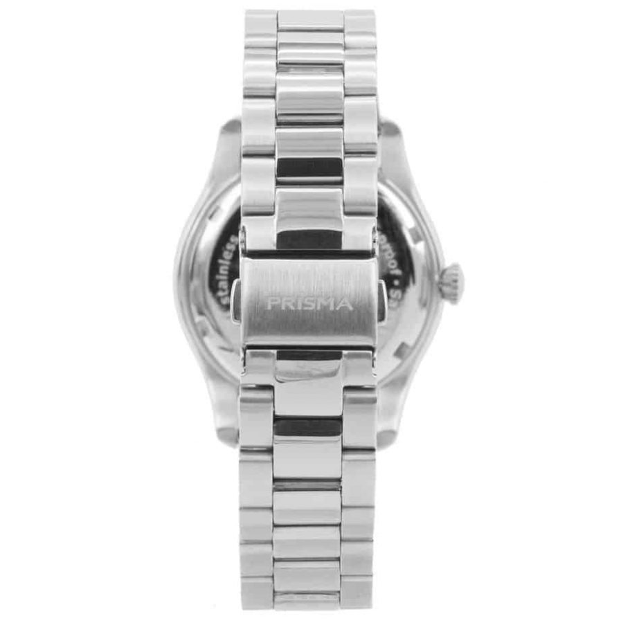 prisma p1890 dames horloge edelstaal achterkant