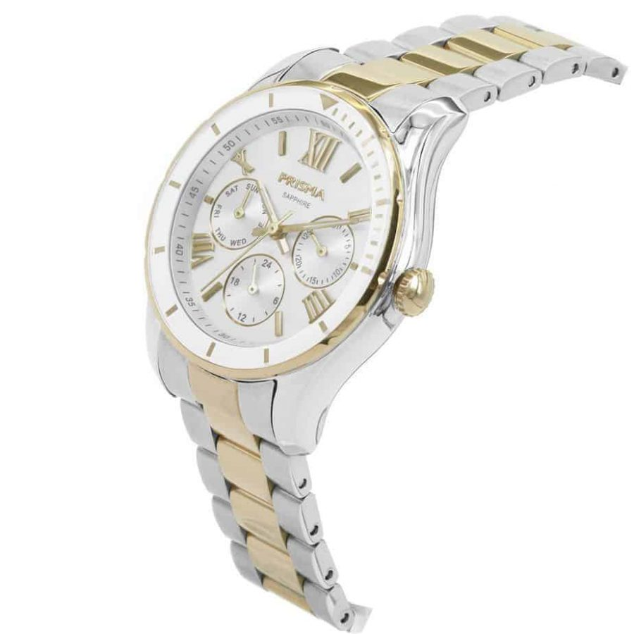 prisma p1892 dames horloge edelstaal royal fertile gold goud watch dutch watch brand
