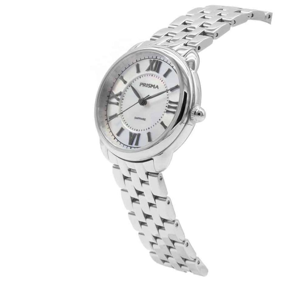 Prisma P1895 dames horloge edelstaal zilver schuin royal dainty watch