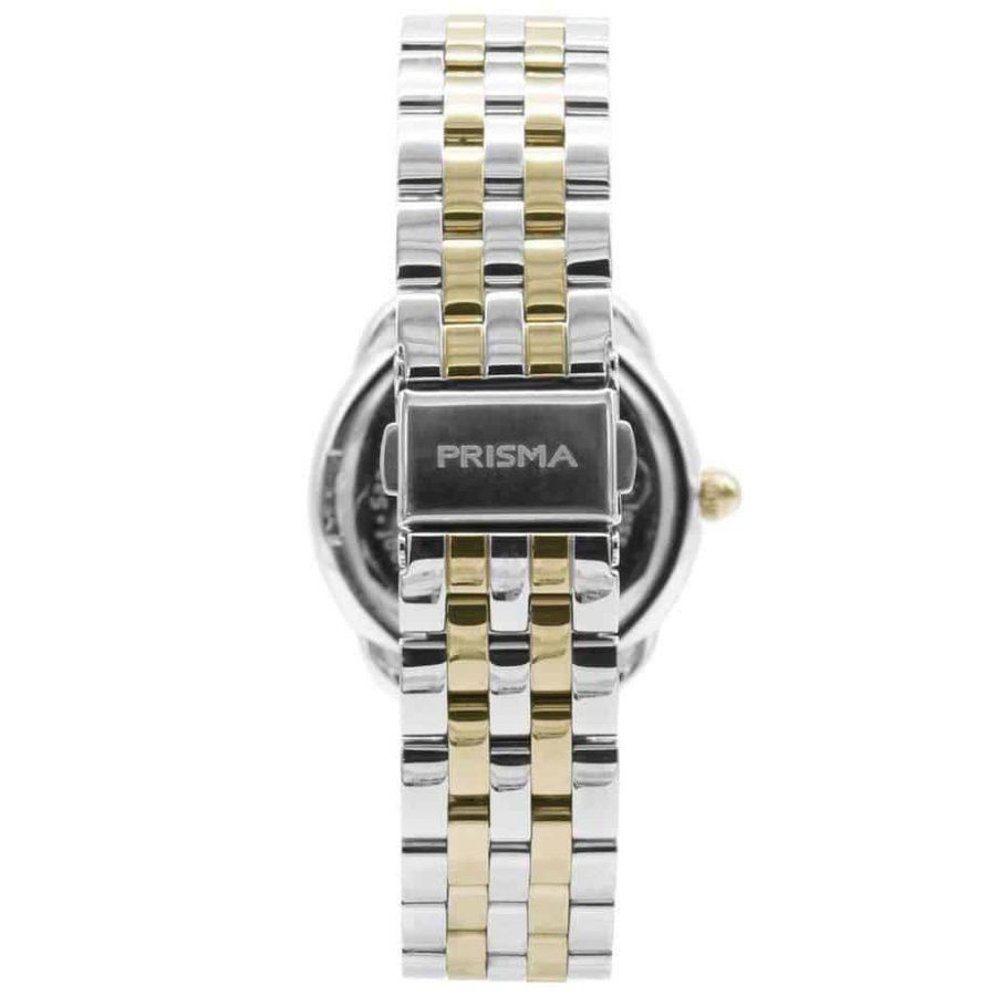 Prisma P1896 dames horloge edelstaal goud zwart achterkant royal dainty gold