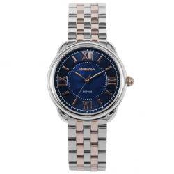 Prisma P1897 dames horloge edelstaal rosegoud blauw royal dainty watch