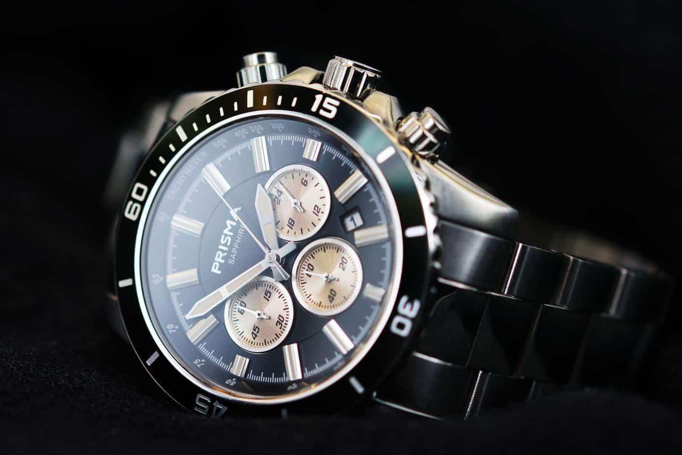 chronograaf horloge chronograph watches prisma horloges explorer navigator zwart watches black