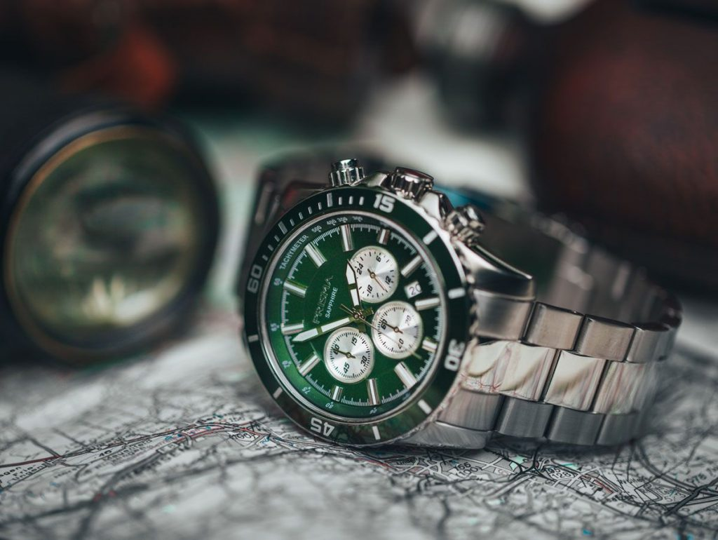 prisma navigator green watch horloge