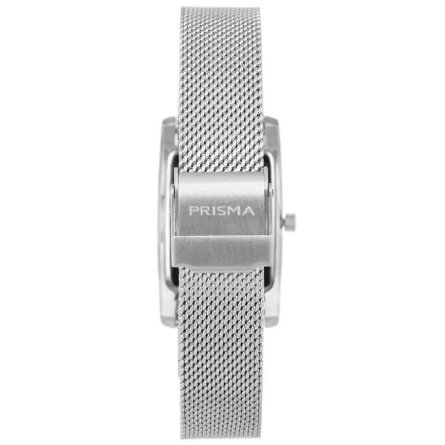 Prisma-P1835-dames-horloge-milanees-vierkant-zilver-achterkant