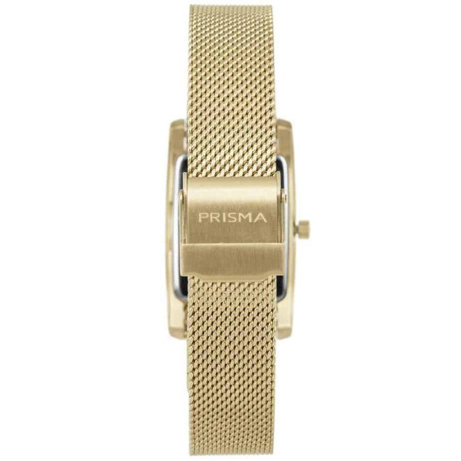 Prisma-P1837-dames-horloge-milanees-goud-vierkant-achterkant