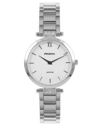 Prisma P1975 dames horloge edelstaal zilver strass
