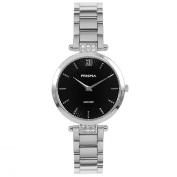 Prisma P1976 dames horloge edelstaal zilver strass