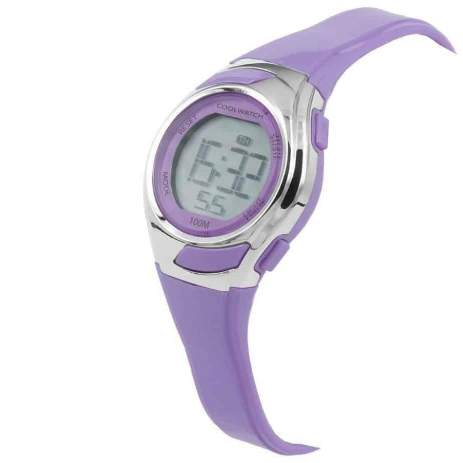 Coolwatch-CW347-meisjes-horloge-digitaal-paars-lila-kunststof-schuin-l