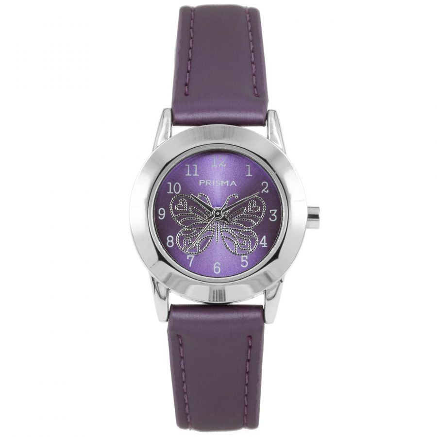 Prisma-CW185-kids-horloge-butterfly-cool-paars