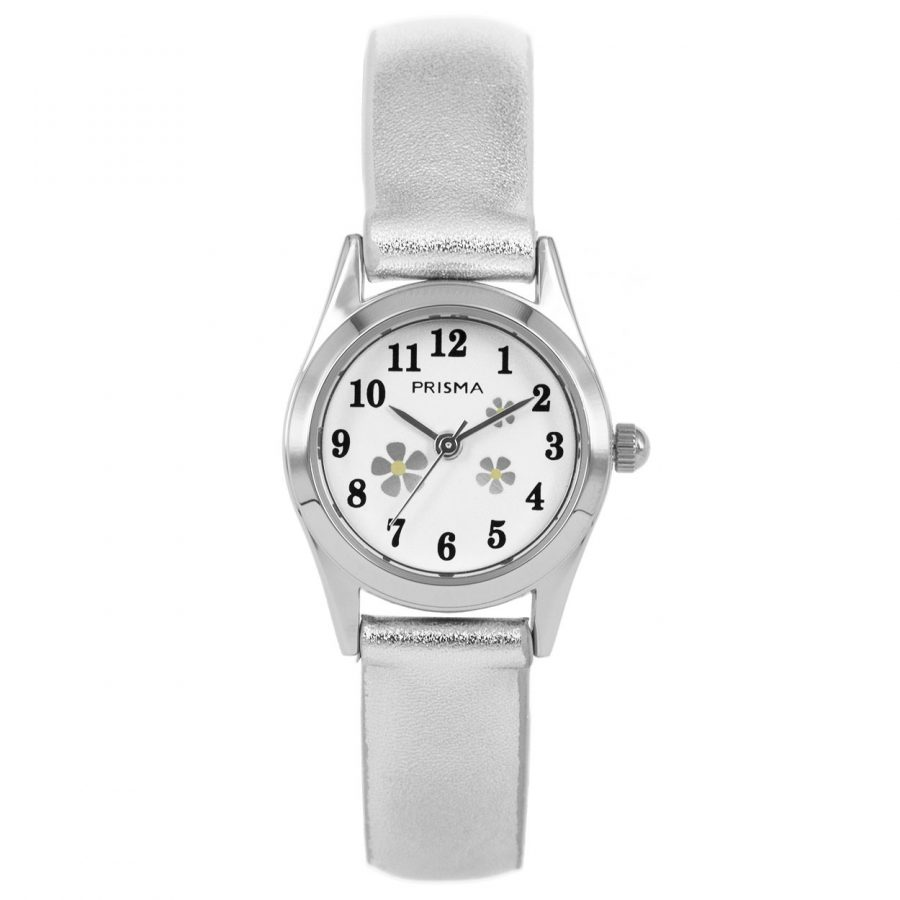 Prisma-CW200-kids-horloge-flower-small-zilver