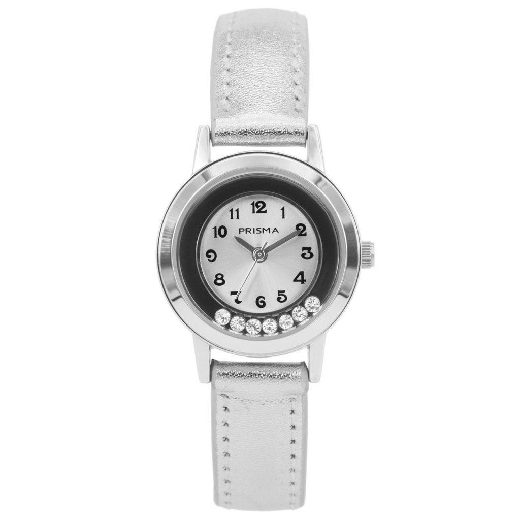 Prisma-CW211-kids-horloge-dazzling-diamonds-zilver