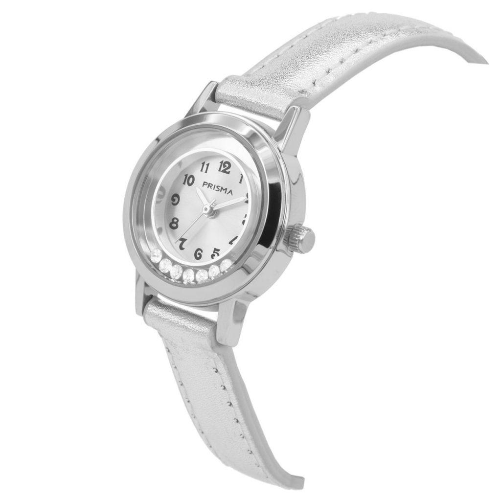 Prisma-CW211-kids-horloge-dazzling-diamonds-zilver-schuin
