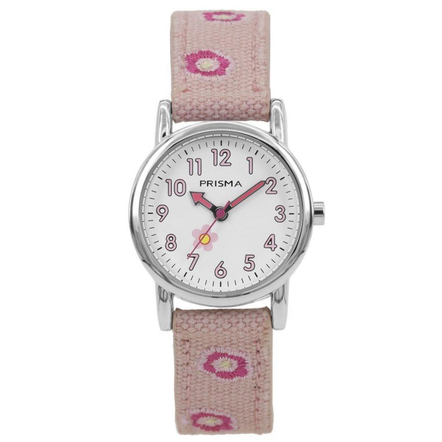 Prisma-CW324-kids-horloge-denim-lichtroze