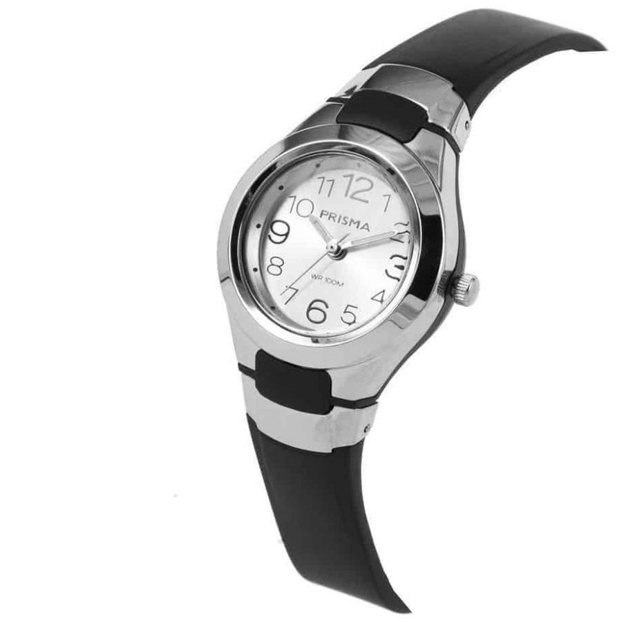 Prisma-CW335-kids-horloge-kunststof-zwart-schuin-l