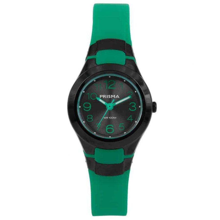 Prisma-CW336-kids-horloges-kunststof-groen-l