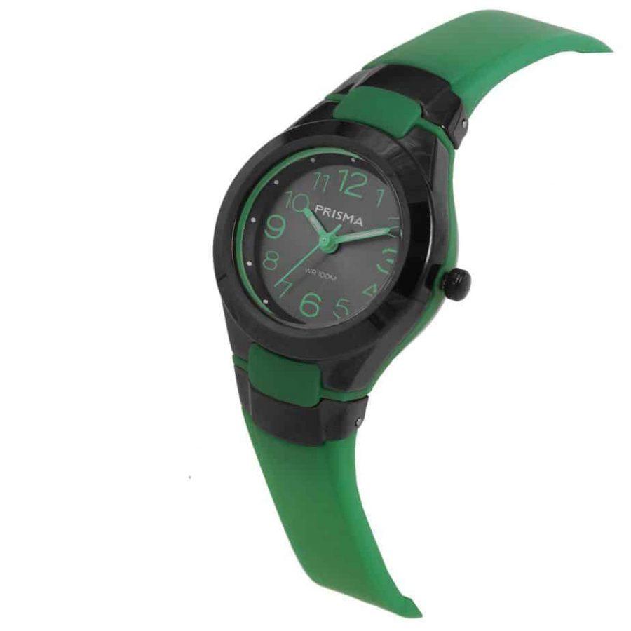 Prisma-CW336-kids-horloges-kunststof-groen-schuin-l