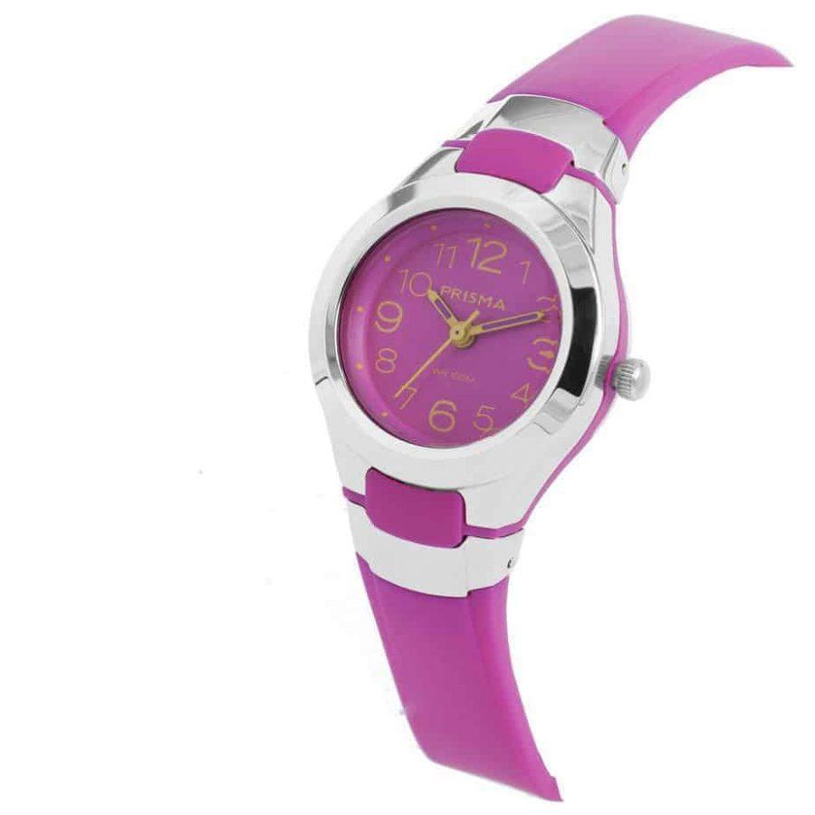 Prisma-CW337-kids-horloge-kunststof-roze-schuin-l