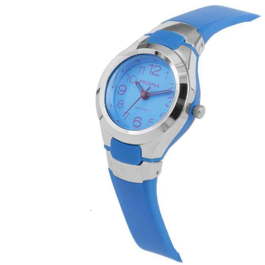Prisma-CW338-kids-horloge-kunststof-blauw-schuin-l