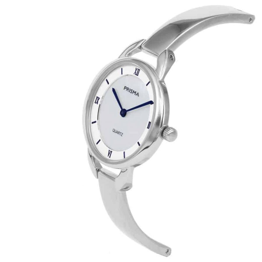 Prisma-P1465-dames-horloge-edelstaal-parelmoer-schuin