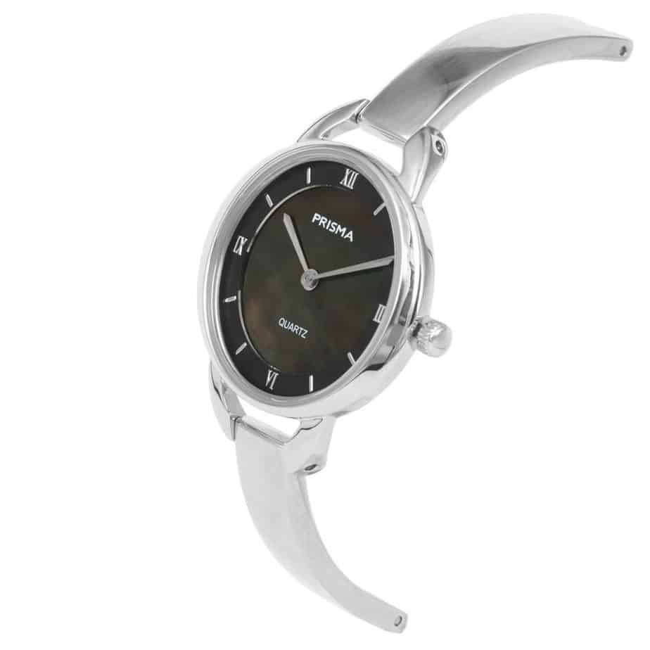 Prisma-P1466-dames-horloge-edelstaal-parelmoer-schuin