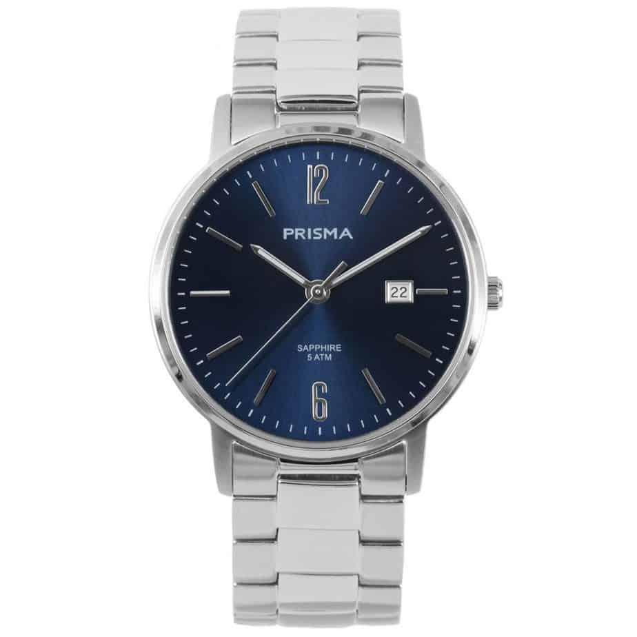 Prisma-P1471-heren-horloge-edelstaal-slimline-blauw-l
