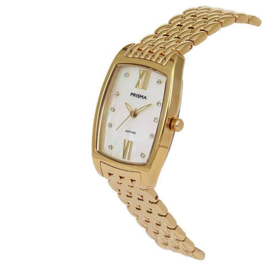 Prisma-P1962-dames-horloge-edelstaal-strass-vierkant-schuin-l