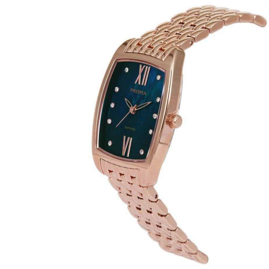Prisma-P1963-dames-horloge-edelstaal-strass-vierkant-schuin-l