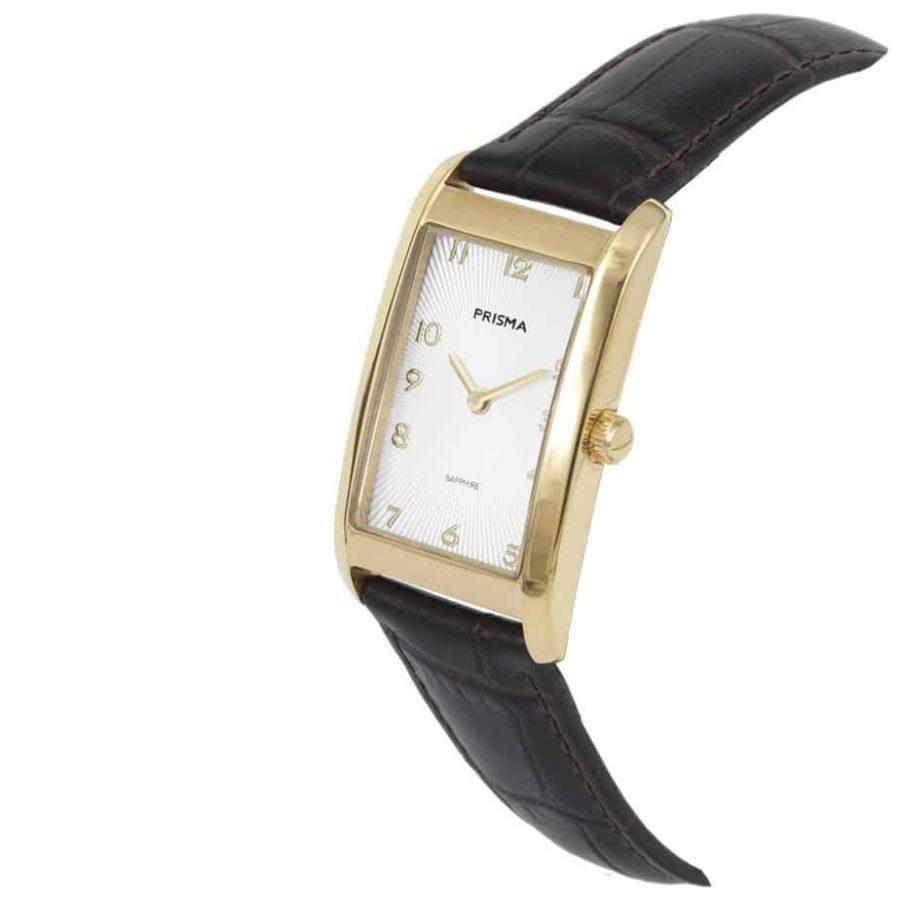 Prisma-P1967-dames-horloge-titanium-goud-rechthoek-schuin-l