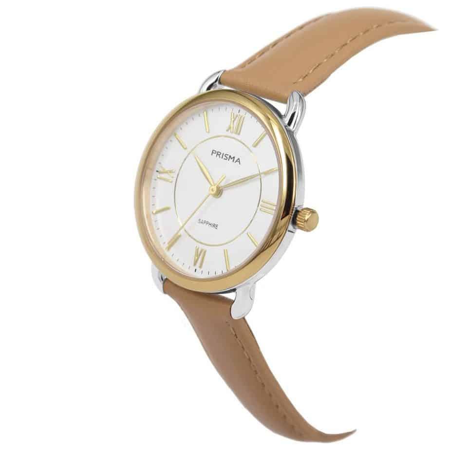 Prisma-P1972-dames-horloge-edelstaal-bicolor-goud-schuin-l
