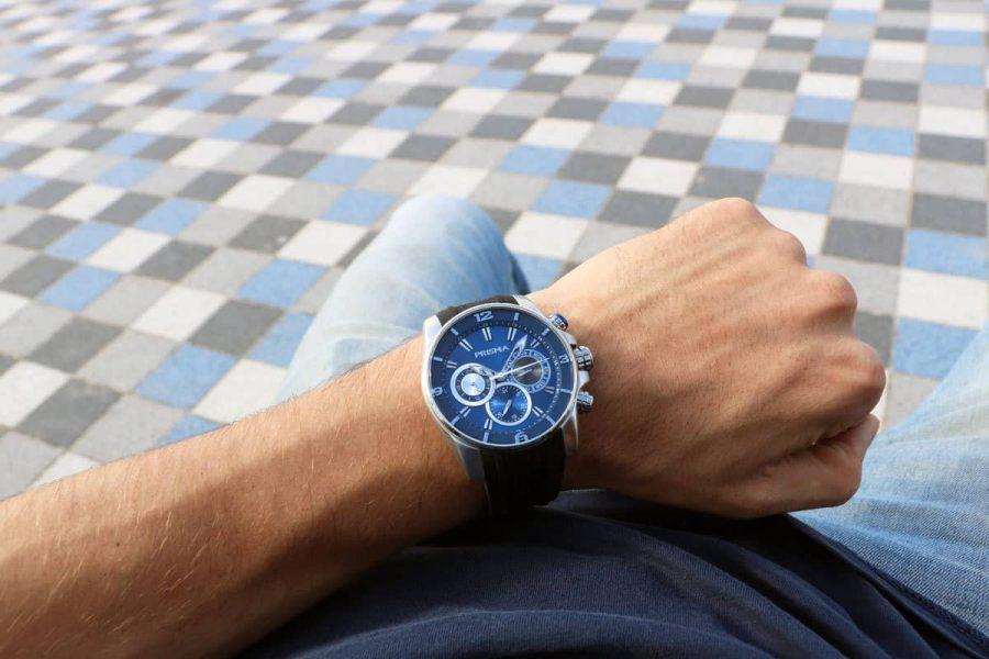 sportief herenhorloge prisma watch Traveller Dive BLue