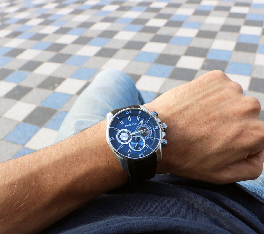 sportief herenhorloge prisma watch Traveller Dive BLue