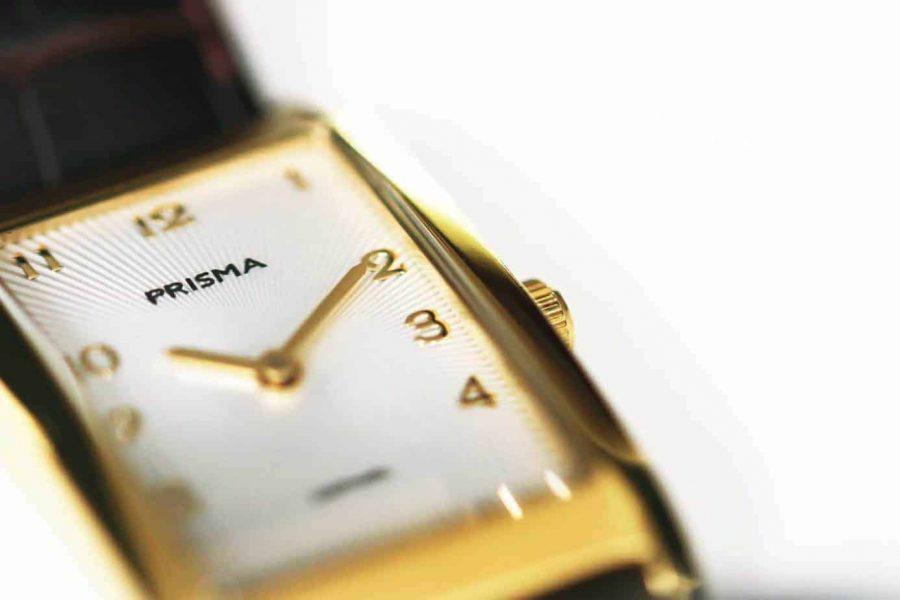 precise quadra prisma vierkant horloges titanium goud gold square watch