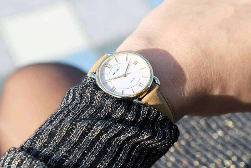 prisma dameshorloge serenity curve gold ladies watch