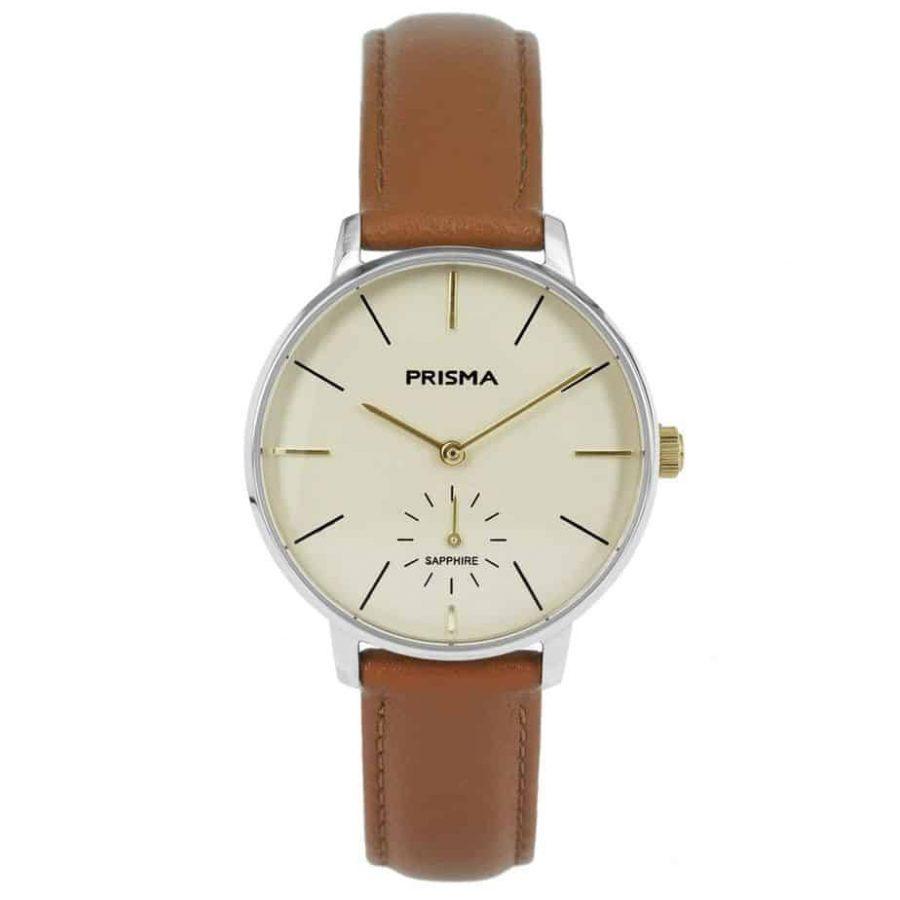 Prisma-P1440-dames-horloge-bicolor-cognac-l