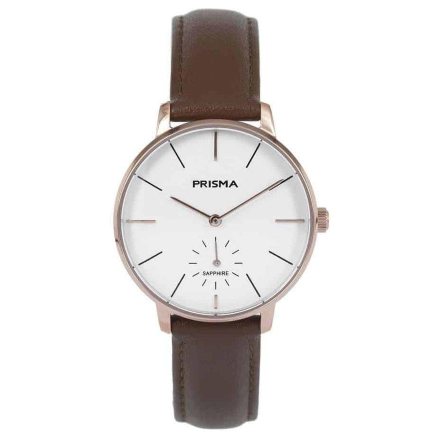 Prisma-P1441-dames-horloge-rosegoud-bruin-l