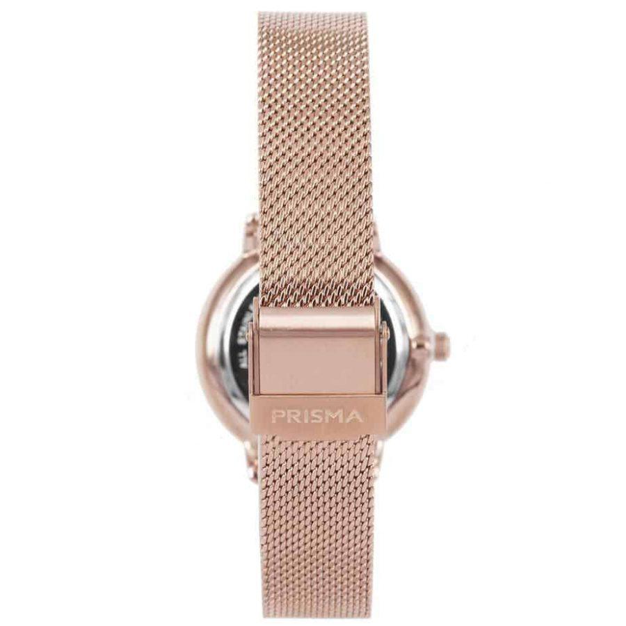 Prisma-P1443-dames-horloge-rosegoud-milanees-achterkant