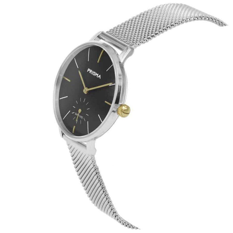 Prisma-P1444-dames-horloge-zilver-milanees-schuin
