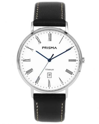 Prisma 1485 Tailor P1485 heren horloge titanium zilver men watch