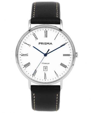 Prisma 1485 Tailor P1485 heren horloge titanium zilver men watch