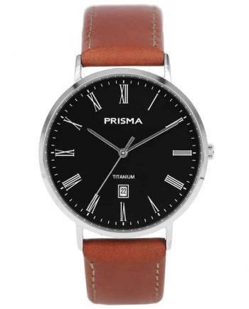 Prisma 1486 Tailor P1486 heren horloge titanium zilver men watch silver