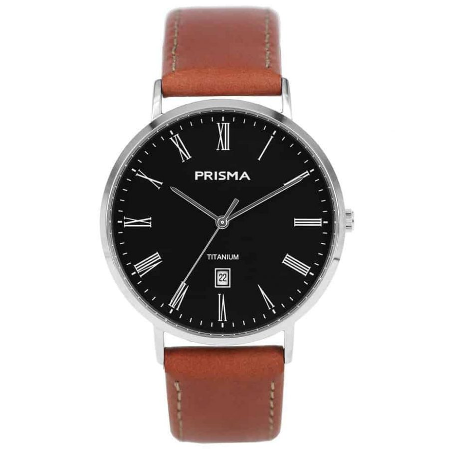 Prisma 1486 Tailor P1486 heren horloge titanium zilver men watch silver