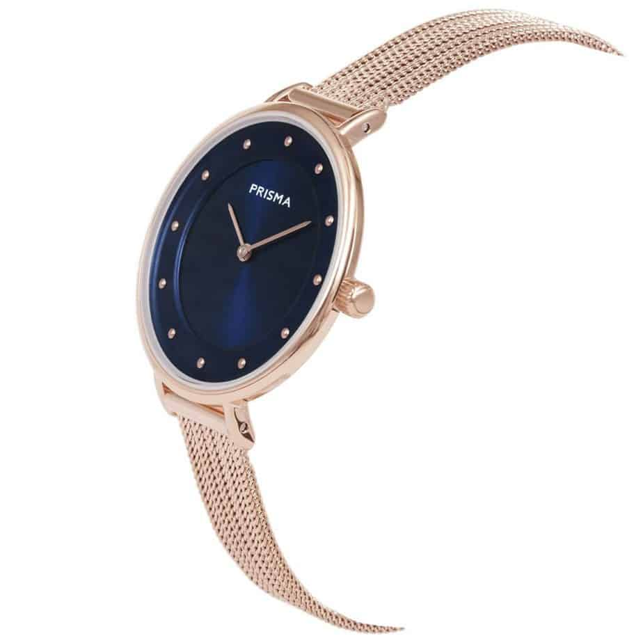 Prisma-P1874-dames-horloges-edelstaal-milanees-rosegoud-schuin