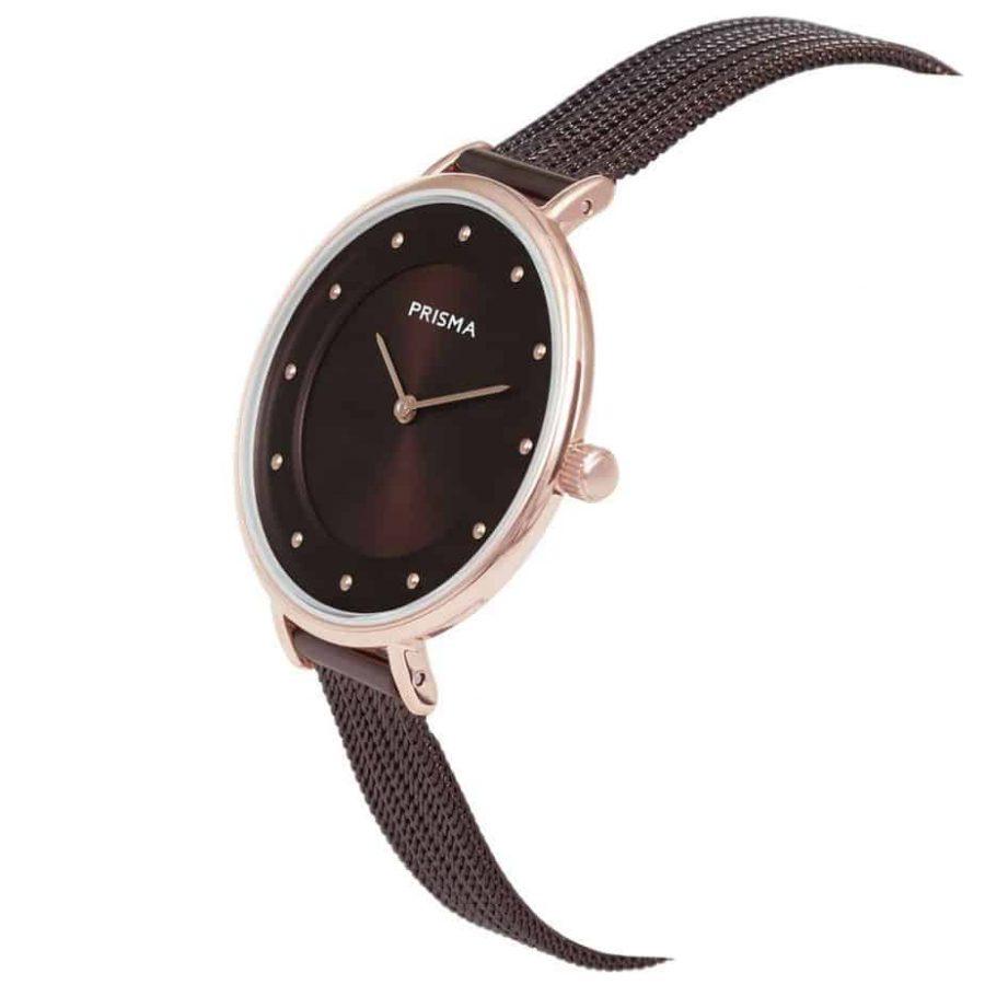 Prisma-P1875-dames-horloges-edelstaal-milanees-rosegoud-schuin-l
