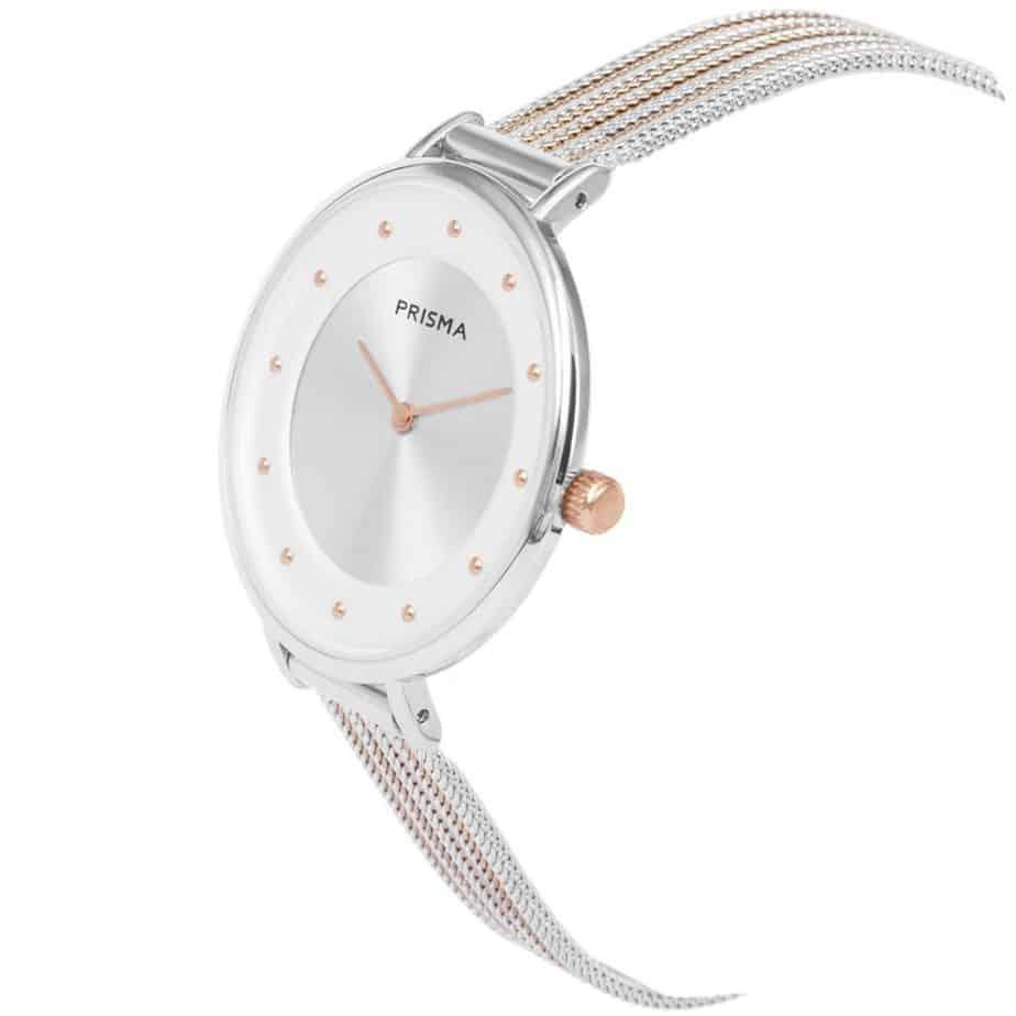 Prisma-P1876-dames-horloges-edelstaal-milanees-bicolor-schuin-l