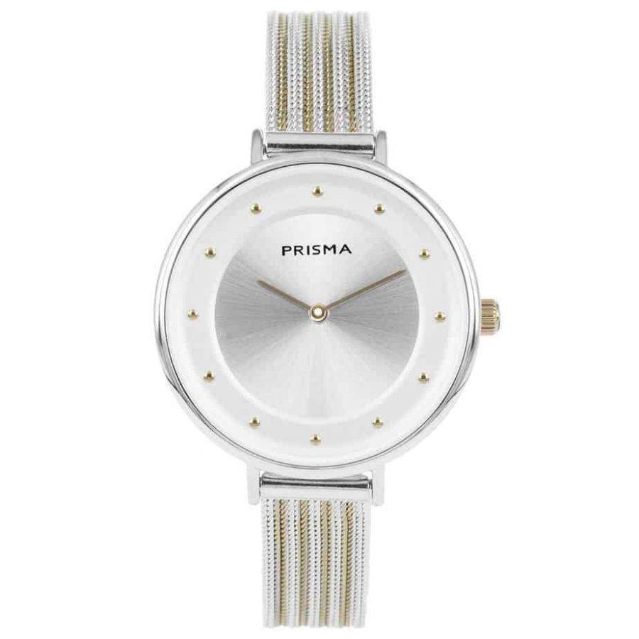 Prisma-P1877-dames-horloges-edelstaal-milanees-bicolor-l