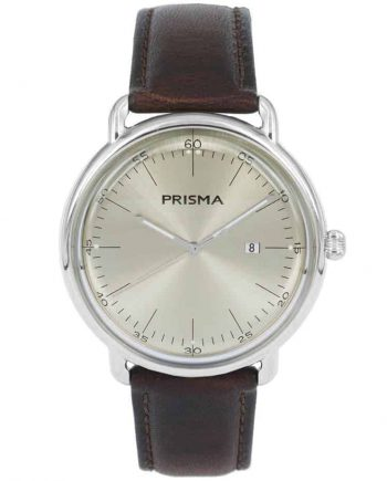 P1912 heren horloge dome P.1912 champagne Prisma 1912 men watch vintage retro inspired
