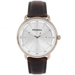 Prisma 1913 dome horloge design vintage watch P1913 heren men watch rosegold