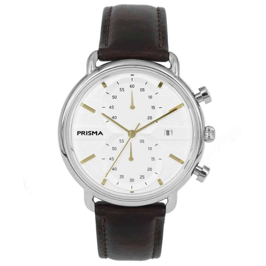 Prisma 1921 P1921 heren horloge edelstaal chronograaf retro design vintage men watch