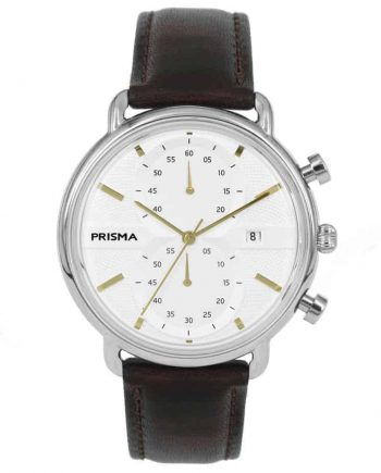 Prisma 1921 P1921 heren horloge edelstaal chronograaf retro design vintage men watch